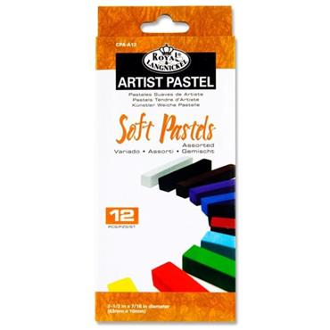 Artist Pastel Box 12 Soft Pastels - Asst Colours