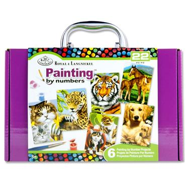 Mini 22pce Painting By Numbers Box Set - Purple