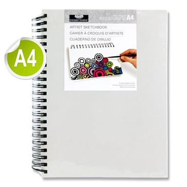 Artist Canvas Cover A4 110gsm Wiro Sketch Book 80 Sheets