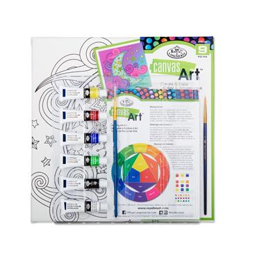 Canvas Art 9pce Create & Enjoy Painting Set - Moon