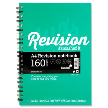 Silvine Luxpad A4 160pg Revision Wiro Notebook