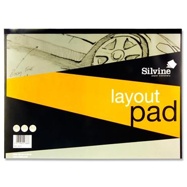 Silvine A3 50gsm Layout Pad 80 Sheets