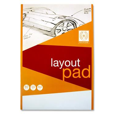 Silvine A4 50gsm Layout Pad - 80 Sheets