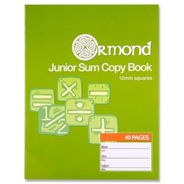 Ormond 40pg 10mm Sq Junior Sum Copy