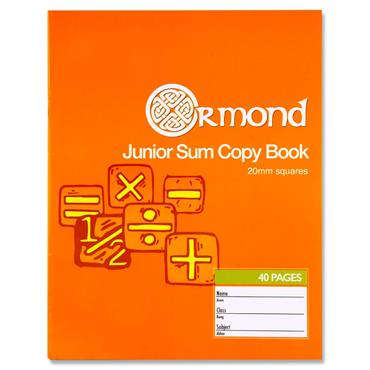 Ormond 40pg 20mm Sq Junior Sum Copy