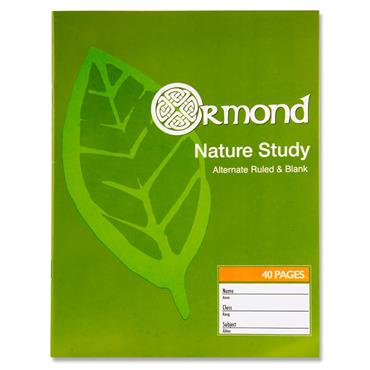 Ormond 40pg Nature Study Copy Book
