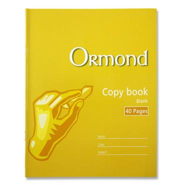 Ormond 40pg Blank Copy Book