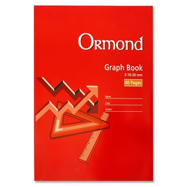Ormond A4 40pg Graph Book