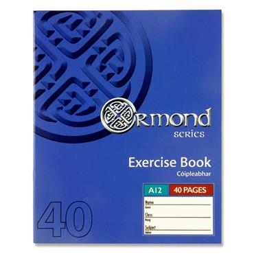 Ormond 40pg A12 Copy Book