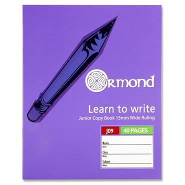 Ormond 40pg J09 Junior Copy Book