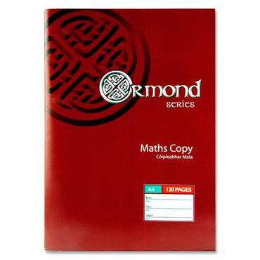 Ormond A4 120pg Maths Copy Book