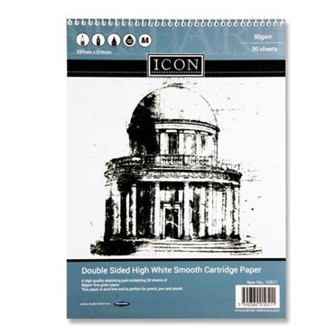 Icon A4 90gsm Spiral Sketch Pad 30 Sheets