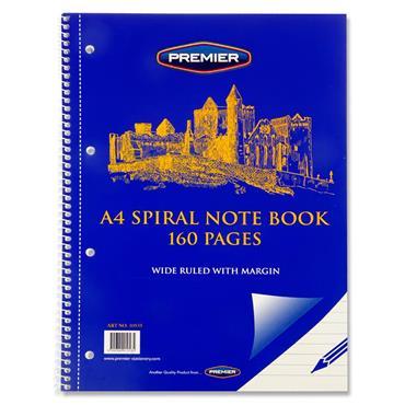 Premier A4 160pg Spiral Notebook
