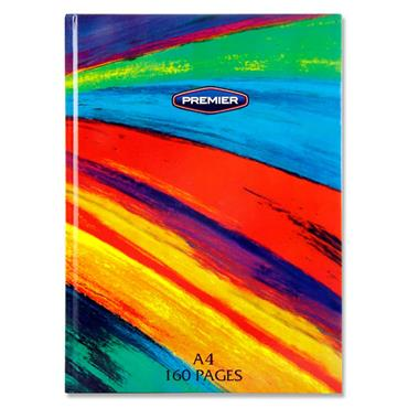 Rainbow A4 160pg Hardcover Notebook