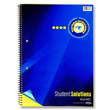 Student Solutions A4 160pg Visual Memory Aid Spiral - Yellow