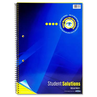 Student Solutions A4 160pg Visual Memory Aid Spiral - Lemon