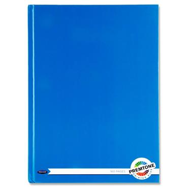 Premto A4 160pg Hardcover Notebook - Printer Blue