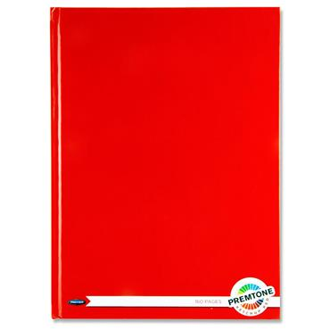 Premto A4 160pg Hardcover Notebook - Red