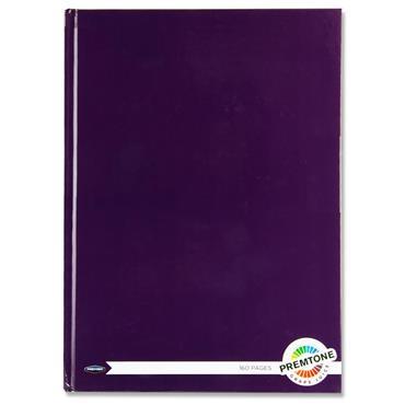 Premtone A4 160pg Hardcover Notebook - Grape Juice