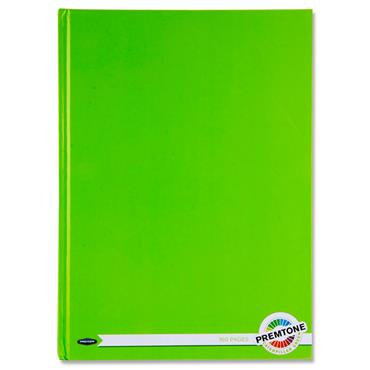 Premto A4 160pg Hardcover Notebook - Caterpillar Green