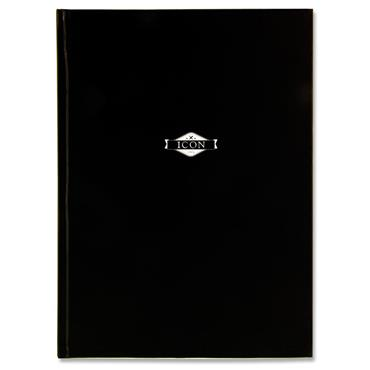 Icon A4 135gsm Hardcover Sketch Book 64 Sheets - Black