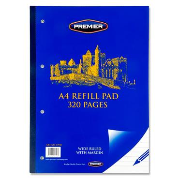 Premier A4 320pg Refill Pad - Side