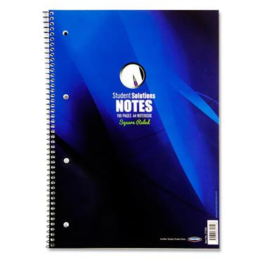Student Solutions A4 160pg 5mm Sq Spiral Notebook