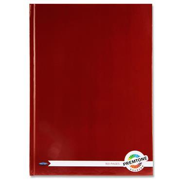 Premtone A4 160pg Hardcover Notebook - Rhubarb