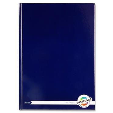 Premtone A4 160pg Hardcover Notebook - Admiral Blue
