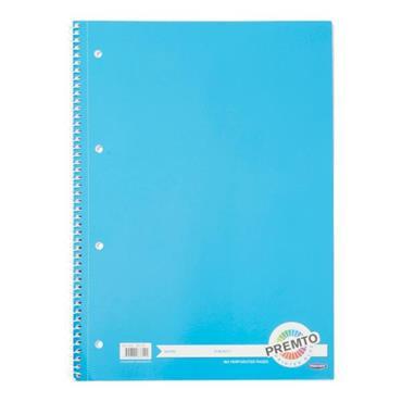 PREMTO A4 160pg SPIRAL NOTEBOOK - PRINTER BLUE