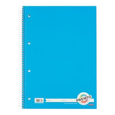 PREMTO A4 320pg SPIRAL NOTEBOOK - PRINTER BLUE