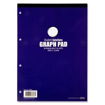 Student Solutions A4 Graph Pad 80 Sheets
