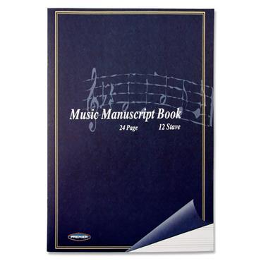 Premier 24pg 12 Stave Music Manuscript Book