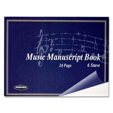 Premier 24pg 6 Stave Music Manuscript Book