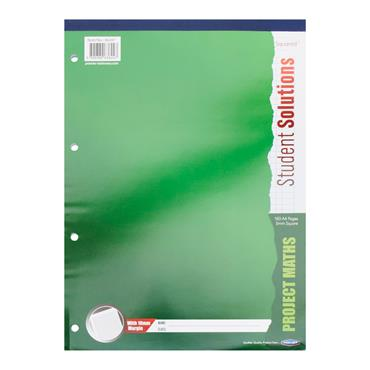 STUDENT SOLUTIONS A4 160pg 5mm Sq PROJECT MATHS REFILL PAD