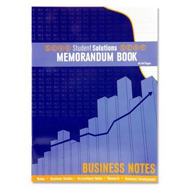 Student Solutions A4 40pg Memorandum Book
