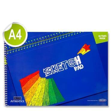 Icon Apprentice A4 60pg 90gsm Spiral Sketch Pad