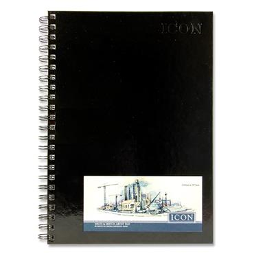 ICON A4 135gsm WIRO HARDCOVER SKETCH PAD 50 SHEETS