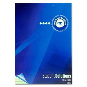 Student Solutions A4 100pg Visual Memory Aid Refill Pad - Green