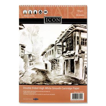 Icon A3 135gsm Wiro Sketch Pad 30 Sheets