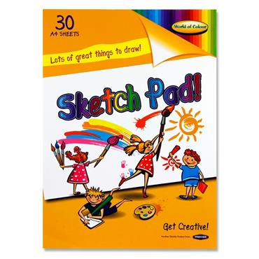 Woc A4 90gsm Sketch Pad 30 Sheets