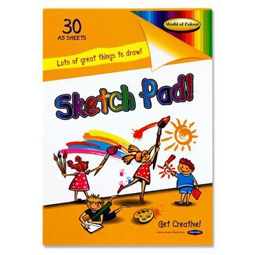 Woc A5 90gsm Sketch Pad 30 Sheets