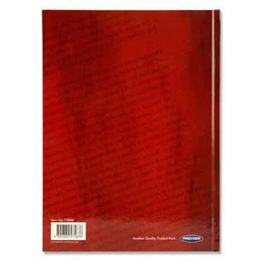 Premier A4 160pg Hardcover Notebook - English