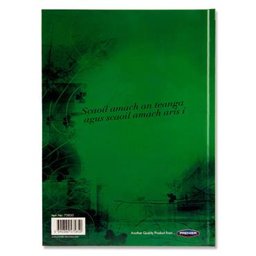 Premier A4 160pg Hardcover Notebook - Irish