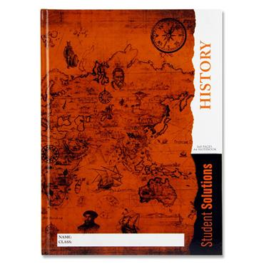 Premier A4 160pg Hardcover Notebook - History