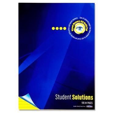 Student Solutions A4 100pg Visual Memory Aid Refill Pad - Lemon
