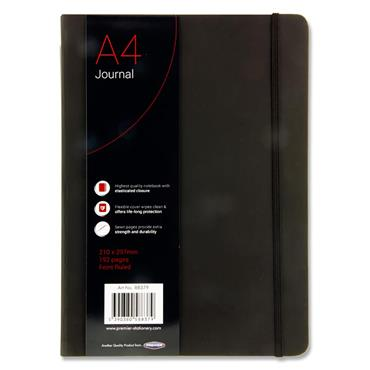 CONCEPT A4 192pg BLACK JOURNAL RULED W/ELASTIC CDU