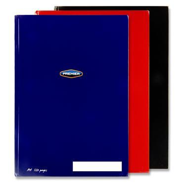 Premier Pkt.3 A4 160pg Asst. Hardcover Notebooks - Bold