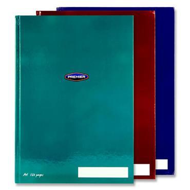 PREMIER PKT.3 A4 160pg HARDCOVER NOTEBOOKS - BOLD