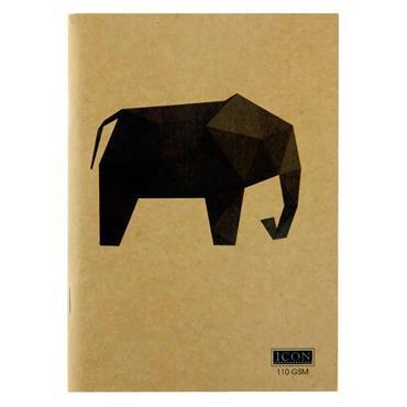 ICON A6 80pg 110gsm KRAFT SKETCH BOOK ANIMALIA DESIGN 4 ASST.